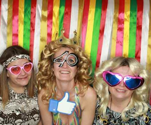 40 årsdagen Siv bursdagfesten photobooth